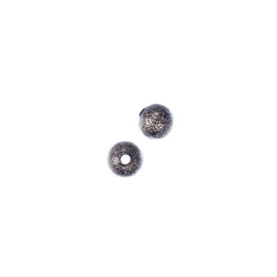 Distanziatore pallina diamantata da 6mm color Bronzo Anticato - 20 pz.