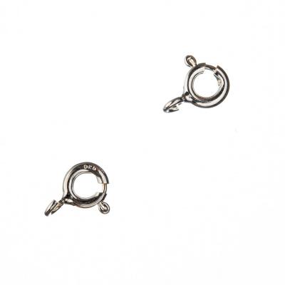 Chiusura anello in Argento 925 con molla - diametro 0.5 cm - 2 pz.