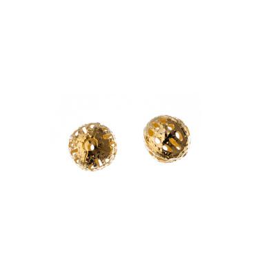 Distanziatore Pallina Decorata Color Oro diametro 0.8 cm - 40 pz.