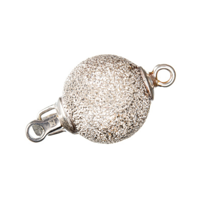Chiusura tonda in Argento 925 a incastro - diametro 1.4 cm - 1 pz.-