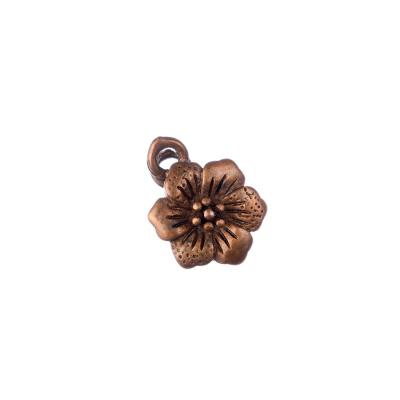 Chiusura Magnetica in Ottone a fiore color Rame 1.9x0.7 cm - 1 pz.