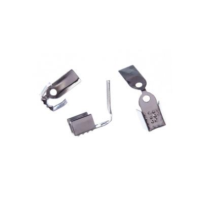 Terminale per cordoncino color Argento 1.7x0.5 cm - 26 pz.