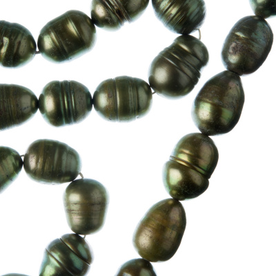 Filo di Perle Grado B a forma di riso da 11-12 mm color Bronzo