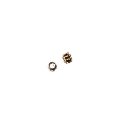 Distanziatore Cilindrico in stile Tibetano color Oro diametro 0.3 cm - 6.7 gr. (circa 50 pz.)