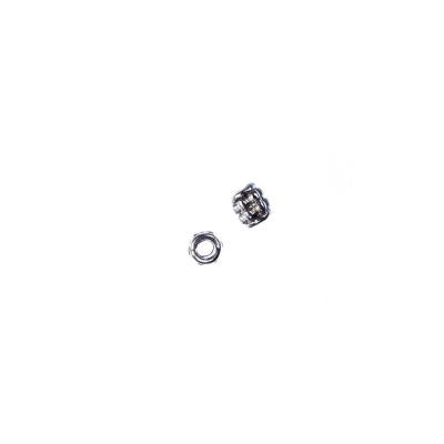 Distanziatore Cilindrico in stile Tibetano color Argento diametro 0.3 cm - 6.7 gr. (circa 50 pz.)