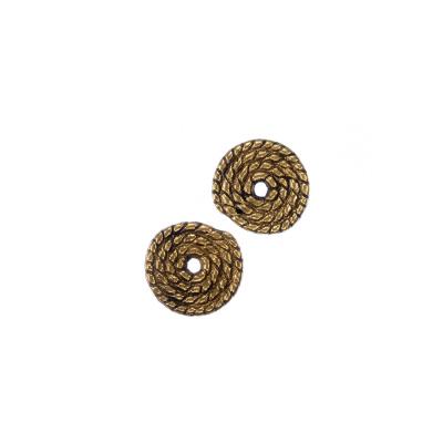Distanziatore a spirale Tibetano color Oro diametro 1 cm - 25 pz.