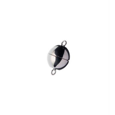 Chiusura magnetica tonda in Argento 925 - diametro 1.4 cm - 1 pz.