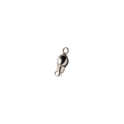 Chiusura tonda in Argento 925 a incastro - diametro 1.3 cm - 1 pz.