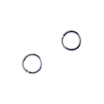 Anellino aperto in Ottone da 8 mm color platino - 10 gr. (circa 72 pz.)