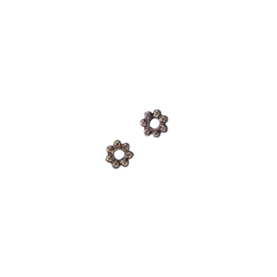 Distanziatore a motivo Floreale color Bronzo Anticato  diametro 0.48 cm - 20 pz.