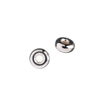 Distanziatore Donuts in Argento 925 - diametro 0.8 cm - 2 pz.
