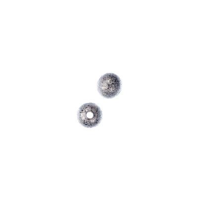 Distanziatore pallina diamantata da 6mm color Platino - 10 pz.