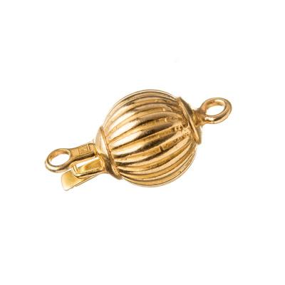 Chiusura tonda in Argento 925 dorato a incastro - diametro 1.1 cm - 1 pz.
