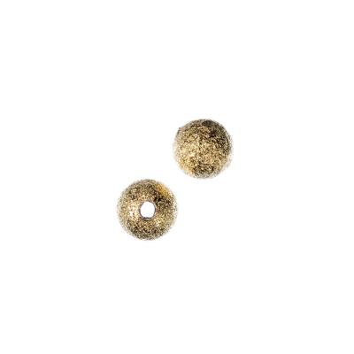 Distanziatore pallina diamantata 8 mm color Oro - 10 pz.