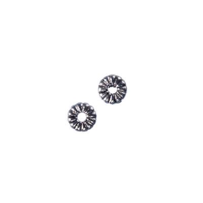 Distanziatore Ciambella Tibetano color Argento diametro 0.7 cm - 16 gr. (circa 50 pz.)