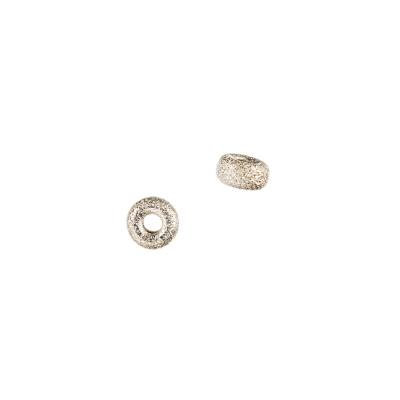 Distanziatore Donuts diamantato in Argento 925 - diametro 0.55 cm - 6 pz.