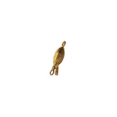Chiusura ovale in Argento 925 Dorato a incastro - 2 x 0.4 cm - 1pz.