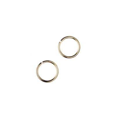 Anellini aperti in Ottone da 7 mm color Oro - 10 gr. - circa 60 pz.