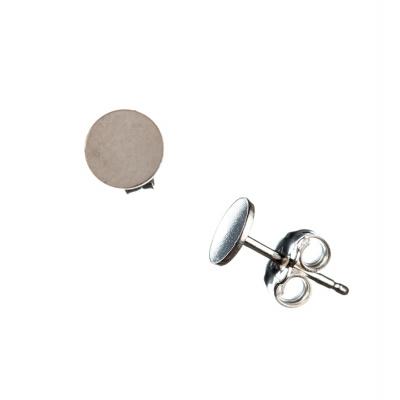 Orecchino a perno in Argento 925 - piatto, diametro 0.6 cm. - 2pz