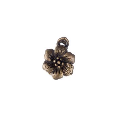 Chiusura Magnetica in Ottone a fiore color Oro Anticato 1.9x0.7 cm - 1 pz.