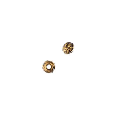 Distanziatore decorato Pallina Tibetana color Oro diametro 0.6 cm- 20 pz.