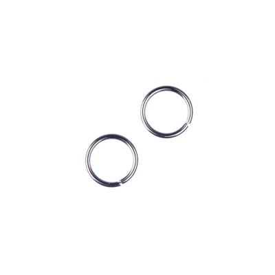 Anellini aperti in Ottone da 7 mm color Argento Anticato - 10 gr. - circa 60 pz.