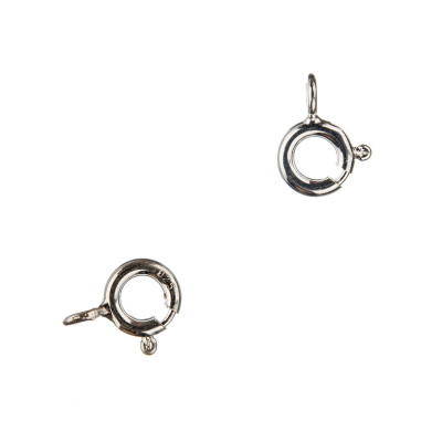 Chiusura anello in Argento 925 con molla - diametro 0.6 cm - 2 pz.