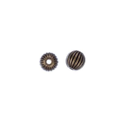 Distanziatore Pallina decorata color Bronzo diametro 0.7 cm - 10 pz.