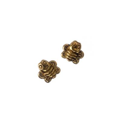 Distanziatore decorato Ape color Oro 0.96x0.9 cm - 10 pz.