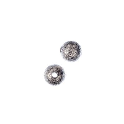 Distanziatore pallina diamantata da 8mm color Argento - 10 pz.