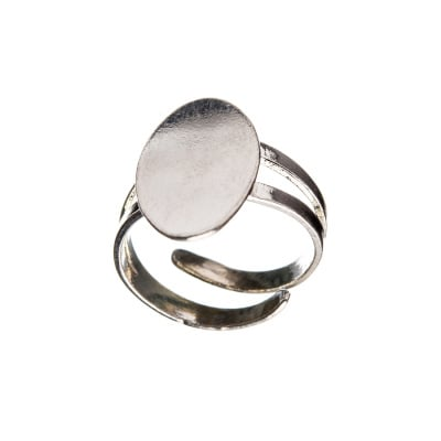 Base per anello in Argento 925 - misure base 1 x 1.8 cm - 1 pz.
