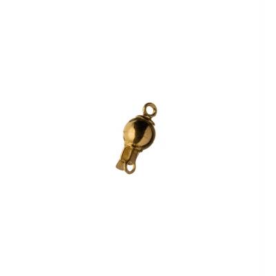 Chiusura tonda in Argento 925 a incastro - diametro 0.7 cm - 1 pz.