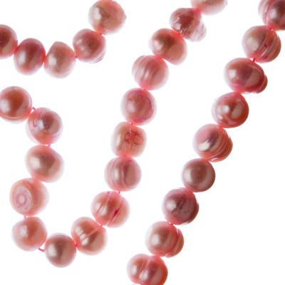 Filo di Perle Tonde Irregolari (Potato) Grado B da 7-8 mm color Rosa