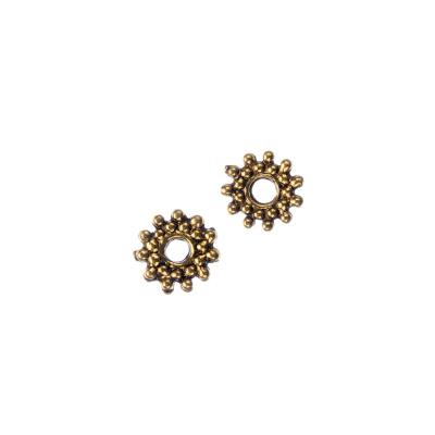 Distanziatore Rondella Tibetana color Oro diametro 0.9 cm - 30 pz.