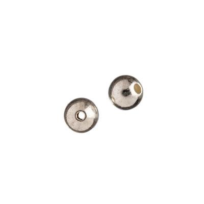Distanziatore sfera liscia in Argento 925 - diametro 0.7 cm - 2 pz.