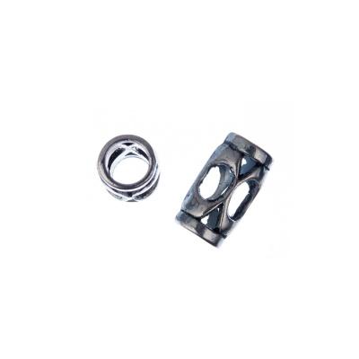 Distanziatore a cilindro color Argento 1.3x0.75 cm - 10 pz.
