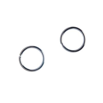 Anellino aperto in Ottone da 10 mm color argento - 10 gr. (circa 36 pz.)