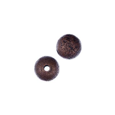 Distanziatore pallina diamantata da 10mm color Bronzo - 8 pz.