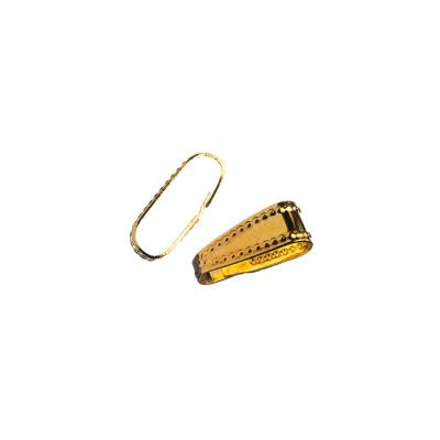 Gancio per pendenti in Ottone color Oro 0.7x0.3 cm - 20 pz.