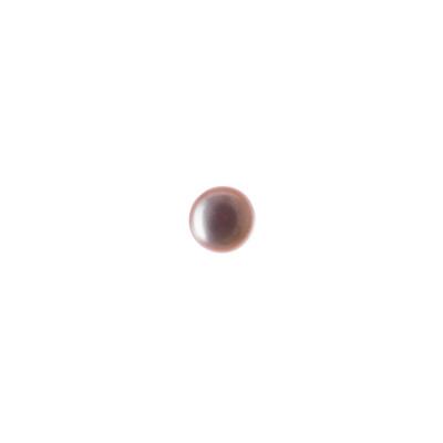 Perla sciolta Grado AA mezza tonda forata a metà da 6-6.5 mm color Viola Tenue - 1 pz.