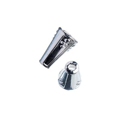 Coppetta conica color platino 1.3x0.8 cm - 4 pz.