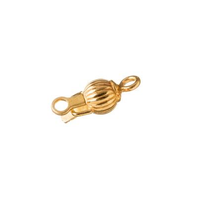 Chiusura tonda in Argento 925 dorato a incastro - diametro 0.5 cm - 1 pz.