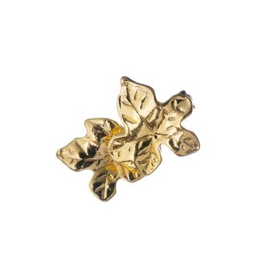 Chiusura Magnetica con coppia di foglie color Oro 2.58x0.8 cm - 1 pz.