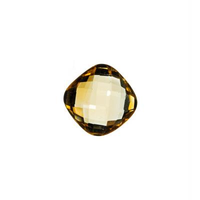 Gemma di Quarzo Citrino - 3.70 carati - Quadrato 1x1