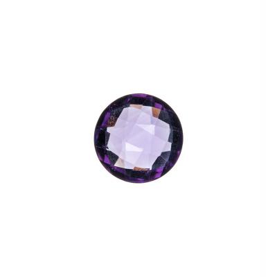Gemma Tonda di Ametista - 3.49 carati - diametro 1 cm.