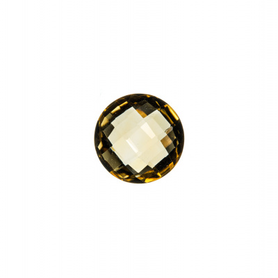 Gemma di Quarzo Citrino - 3.3 carati - Tondo 1 cm diametro