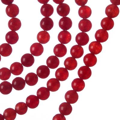 Giada Rossa - Filo di sfere lisce da 6mm