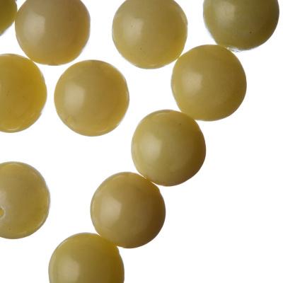 Giada Lemon - Filo di sfere lisce da 14mm