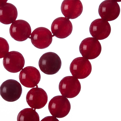 Giada Rossa - Filo di sfere lisce da 10mm