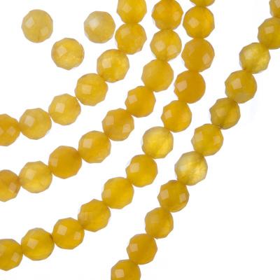 Giada Gialla - Filo di sfere sfaccettate da 6mm